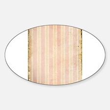 Vintage Pink Stripes Decal