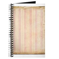 Vintage Pink Stripes Journal