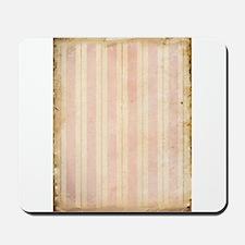 Vintage Pink Stripes Mousepad
