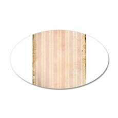 Vintage Pink Stripes Wall Decal