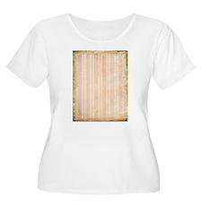 Vintage Pink Stripes Plus Size T-Shirt