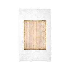 Vintage Pink Stripes 3'x5' Area Rug