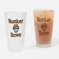 Bunker Down Drinking Glass