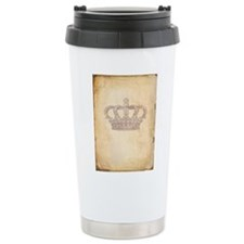 Vintage Pink Royal Crown Travel Mug