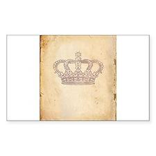 Vintage Pink Royal Crown Decal