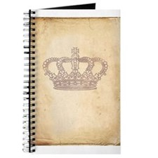 Vintage Pink Royal Crown Journal