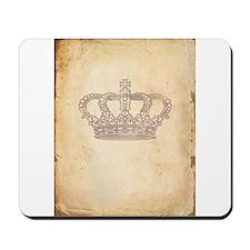Vintage Pink Royal Crown Mousepad