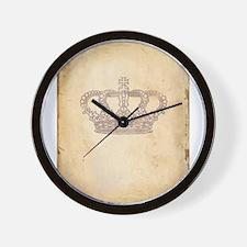 Vintage Pink Royal Crown Wall Clock