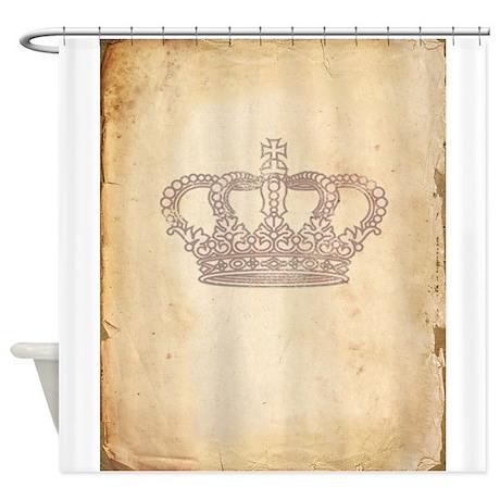 Vintage Pink Royal Crown Shower Curtain