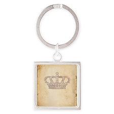 Vintage Pink Royal Crown Keychains