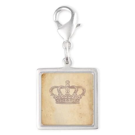 Vintage Pink Royal Crown Charms