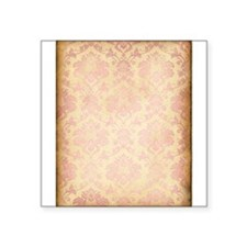 Vintage Pink Damask Sticker