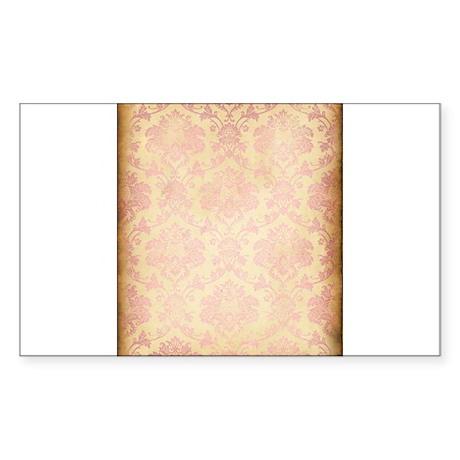 Vintage Pink Damask Sticker