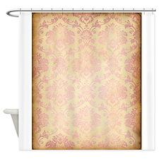 Vintage Pink Damask Shower Curtain