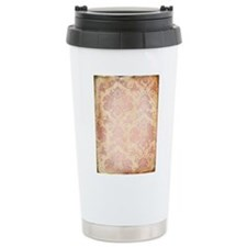 Vintage Pink Damask Travel Mug