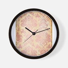 Vintage Pink Damask Wall Clock