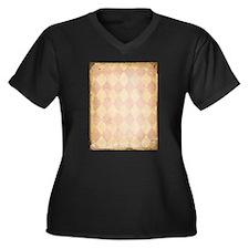 Vintage Pink Diamond Print Plus Size T-Shirt