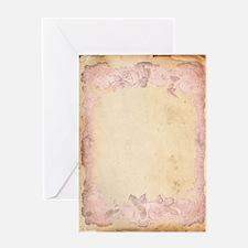 Vintage Rose Frame Greeting Card