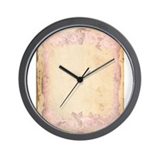 Vintage Rose Frame Wall Clock