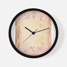 Vintage Rose Frame Wall Clock