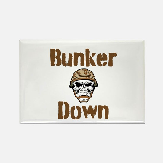 Bunker Down Rectangle Magnet
