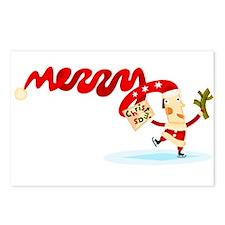 Dancing Christmas Postcards (Package of 8)