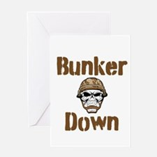 Bunker Down Greeting Card