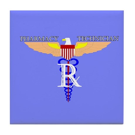 US Air Force Pharmacy Tech Tile Coaster