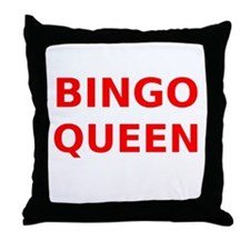 Bingo Queen Throw Pillow