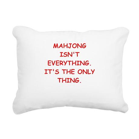 MAHJONG3 Rectangular Canvas Pillow