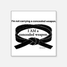 Concealed Weapon Rectangle Sticker