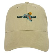 Fort Walton Beach - Map Design. Baseball Cap