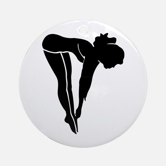 Swimming & Diving Silhouette Ornament (Round)