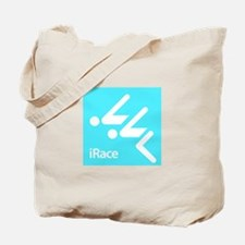 Competitive Swimming iRace Silhouette Tote Bag