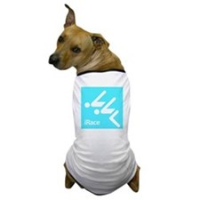 Competitive Swimming iRace Silhouette Dog T-Shirt