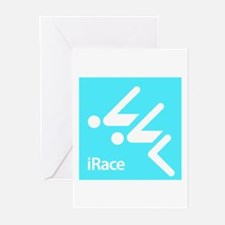 Competitive Swimming iRace Silhouette Greeting Car