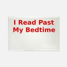 I Read Past My Bedtime Rectangle Magnet