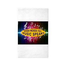 MUSIC SPEAKS 3'x5' Area Rug