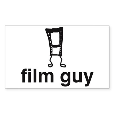 Film Guy Rectangle Sticker
