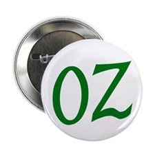 "OZ in Green 2.25"" Button"