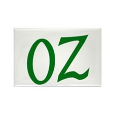 OZ in Green Rectangle Magnet