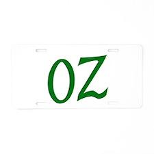OZ in Green Aluminum License Plate