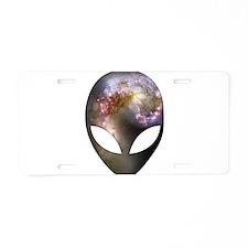 Alien Head - Cosmic Aluminum License Plate