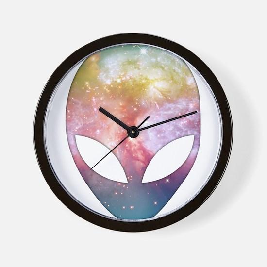 Cosmic Alien Wall Clock