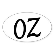 Oz in Black Decal