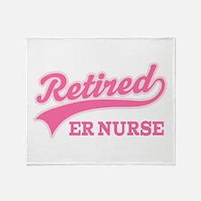 Retired ER Nurse Throw Blanket