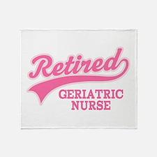 Retired Geriatric Nurse Throw Blanket