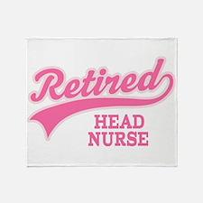 Retired Head Nurse Throw Blanket