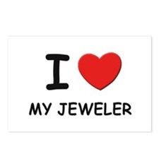 I love jewelers Postcards (Package of 8)
