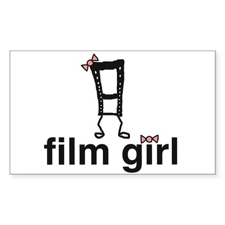 Film Girl Rectangle Sticker